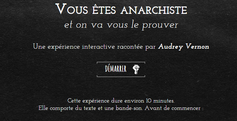 Vous êtes anarchiste par The Pixel Hunt