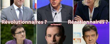 droite gauche réac révolutionnaires, candidats politique président 2017